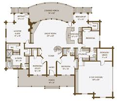 log home floorplans lakeview log home floor plan by contemporary log homes