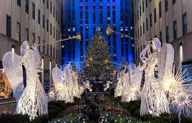 lighting of christmas tree in rockefeller center christmas