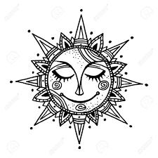 summer sun tribal background ornamental decoration