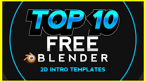 2d intro templates for blender top 10 new blender 2d intro templates series 1 1080p 60fps