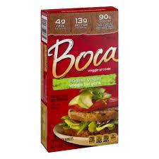 boca veggie protein burgers original vegan 10 0 oz walmart com