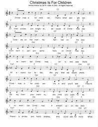 christmas is for children pdf sheet music midi