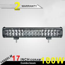 led driving lights for trucks 180w 17 double row 5w osram led light bar led light bar