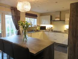 gloss ivory kitchen with jackson pine cabinets the gallery
