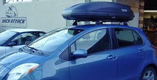 Car Top Carrier Cross Bars Toyota Yaris 4dr Rack Installation Photos
