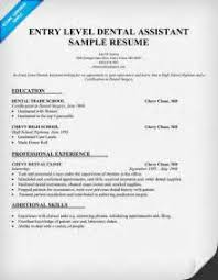 Sample Dental Assistant Resume by Entry Level Freshers Dental Assistant Resume Free Dental
