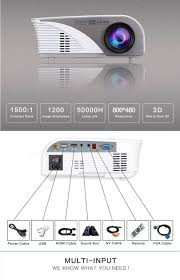 805b lcd mini support 1080p 1200 lumens led portable projector