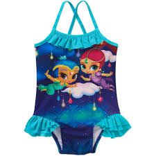 halloween bathing suits shimmer and shine toddler swim suit walmart com