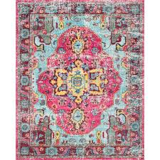 Area Rug Pattern The Luella Boho Pink Pattern Area Rug
