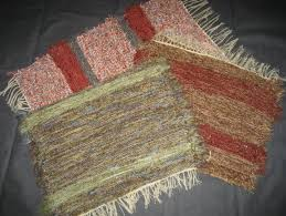 hand woven rugs made from recycled rayon cotton polyester fiber