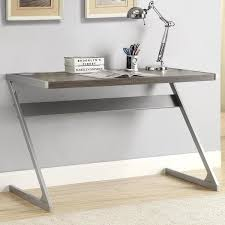 sleek desk sleek modern z style weathered grey writing computer desk with