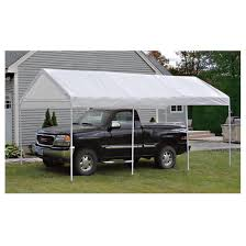 shelterlogic portable garage canopy carport 10 u0027 x 20 u0027 117083