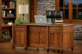 Solid Wood Office Desks Amish Solid Wood Desks Countryside Amish Furniture