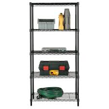 Metal Wire Storage Shelves Stor 5 Shelf Age Unit