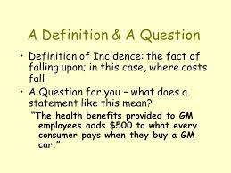 theme question definition using elasticity to predict cost incidence a definition a