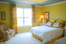 Yellow Room Appealing Yellow Wall Colors Scheme Contemporary Bedroom Design