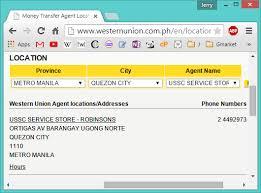 Western Union How To Claim An International Remittance In Ussc Bureau Western Union