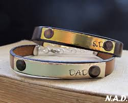 custom engraved bracelet custom engraved bracelet adjustable leather wristband gifts for