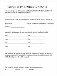 30 day notice to tenant template 28 images tenant to landlord