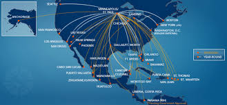 Air Canada Flight Map by Sun Country Airlines World Airline News