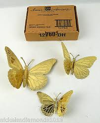 home interior gifts new set 3 home interiors gifts set brass wall butterflies wall
