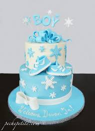 baby shower cakes boys winter themed baby boy shower cake pêche baby shower