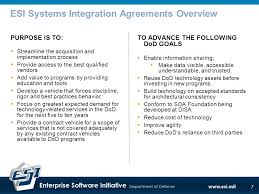 dod esi cots systems integration services csis overview briefing