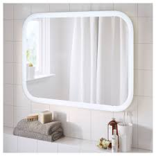 ikea bathroom mirror light storjorm mirror with integrated lighting white 80x60 cm ikea