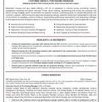 Sample Resume For Customer Service Manager by Customer Service Manager Resumes Customer Service Manager Resume