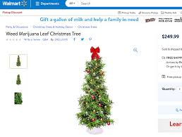walmart has marijuana leaf trees boing boing