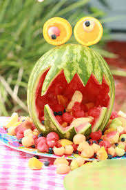 Halloween Party Ideas For Toddlers by Best 25 Watermelon Monster Ideas On Pinterest Luau Party Tiki