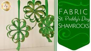 diy fabric st paddy u0027s day shamrocks shabby fabrics youtube