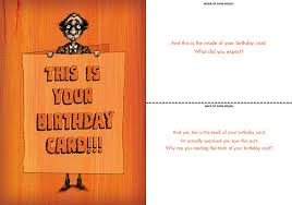 065 this is your birthday card bald guy greetings