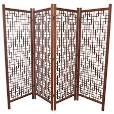 tri fold room divider vintage danish teak room divider screen at 1stdibs