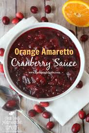 orange amaretto cranberry sauce www thefarmgirlgabs