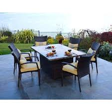 Patio High Table And Chairs Dining Table Fire Pit Patio Dining Table Outdoor Set Sling