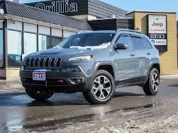 2015 jeep cherokee light bar used 2015 jeep cherokee trailhawk for sale orillia on