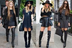 how to wear boots in various styles and heights thigh high boots