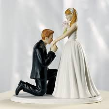 cheap wedding cake toppers groom on one knee wedding cake topper
