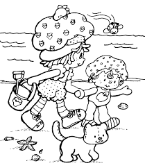 coloring pages for kids in the summer goes to beach season