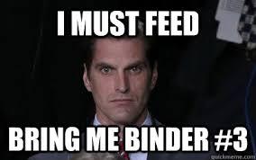 Binder Meme - bite the pillow i m going in dry menacing josh romney quickmeme