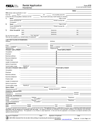 form 410 rental application in word and pdf formats