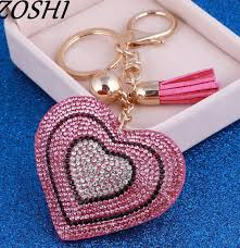 color key rings images Zoshi gold color key chain crystal heart keychains keyrings jpg