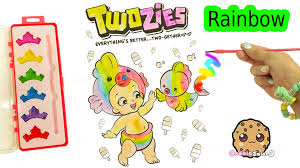 rainbow water color painting twozies baby with disney princess