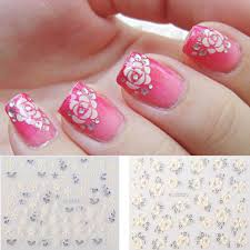 2 99 12pcs pretty flower snowflake 3d nail art tips decals