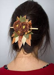 leather hair accessories 59 best hair barrettes images on leather jewelry