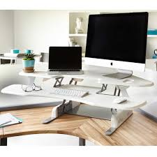 Sit Stand Desk Reviews by Corner Standing Desk 2017 And Newheightsa U201e Height Adjustable