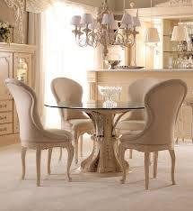 Circular Glass Dining Table And Chairs Italian Round Glass Dining Table Starrkingschool