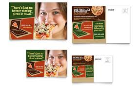 pizza pizzeria restaurant postcard template word u0026 publisher