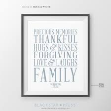 family sign family quotes house subway poster